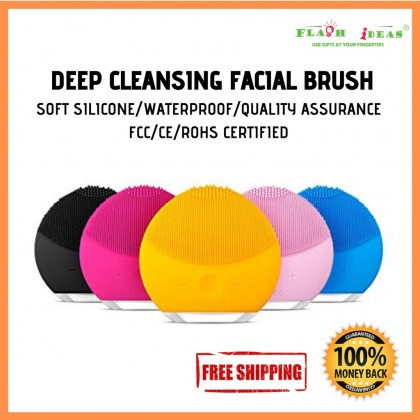 USB Rechargeable Deep Cleansing Facial Device/ Mini Electric Silicon Face Washer Good Quality/Blackhead remover