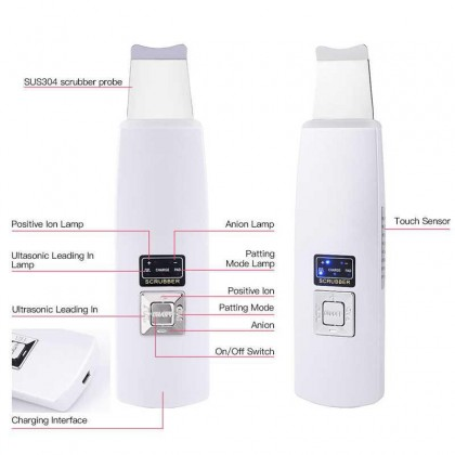 Ultrasonic Blackhead Removal Skin Cleaning Moisturizing Pore Cleaner Cleansing Instrument Scraper
