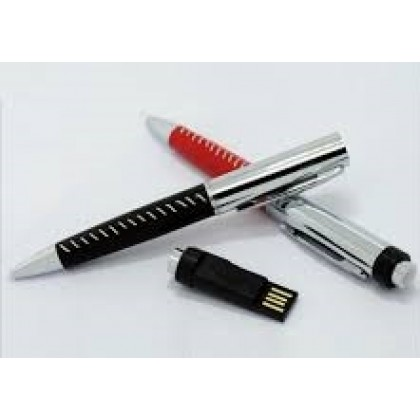 USB Exclusive Leather Pen with Thumb Drive Pen Drive Flash Drive 4GB Brown Black OEM Wholesale