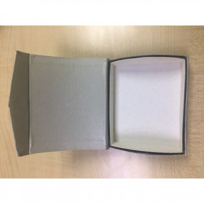 Magnetic Silver Hardboard Paper Gift Box Solid Hard Cover High Quality Ready Made Packaging Box