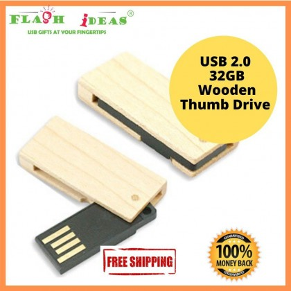 Flash Memory Stick 32GB USB 2.0 Pen Drive Ultra Slim Swivel Type Wood Design Collection Wholesale Branded Chipset