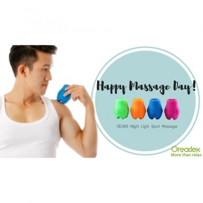 Oreadex USB Traveler Massager with LED light waterproof strong Vibration relief sore muscle promote blood circulation