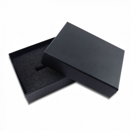 5PCS/ LOT Hard Cover Deluxe Gift Box Black Packaging Box with Foam Sponge Top Bottom Box