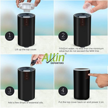 USB Car Aromatherapy Humidifier Aromatherapy Essential Oil Diffuser Humidifier 42ml