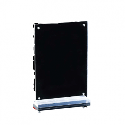 T-shape Portrait A5 Magnetic Acrylic Menu Display Stand Clear Transparent Color 1cm Solid Base High Quality