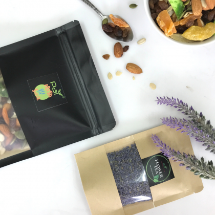 [Fresh off the Snack] Nut Trail Mix 120g with Flower Tea Combo Deal  - Premium Almond Pumpkin Sunflower Seeds Dried Fruit Raisin Mix / 15g Lavender Flower Tea / No MSG / No Preservative / Roast Daily / Delicious / Freshness Guaranteed / Healthy Snack 120G